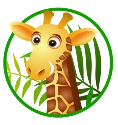 giraffe cartoon vector image vector image