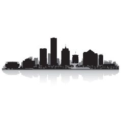 Milwaukee USA city skyline silhouette vector image