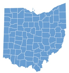 State map of Ohio by counties vector image vector image