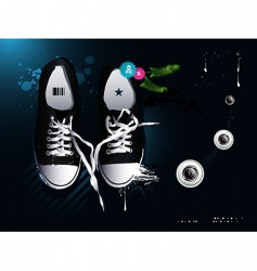 athletic shoes sneakers vector image