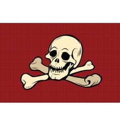 Jolly Roger The skull and crossbones vector image vector image