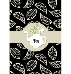 Tea package label vector image