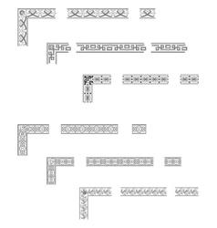 Corners and borders vector image