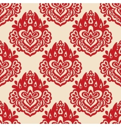 Damask seamless pattern florish vector image vector image
