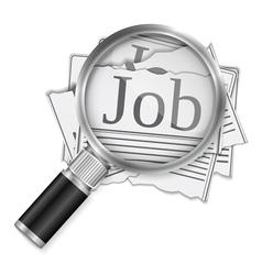 Job Search vector image vector image