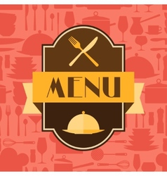 Restaurant menu background in flat design style vector image