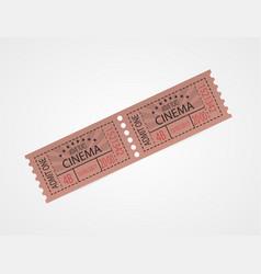 retro cinema tickets red design vector image