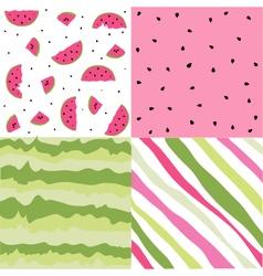 Seamless pattern watermelon set vector image vector image