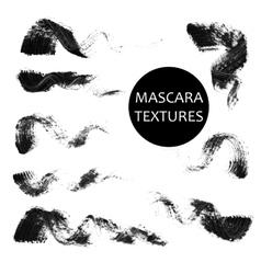 Set of 8 artistic mascara black strokes vector image vector image