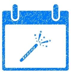 Sparkler Firecracker Calendar Day Grainy Texture vector image vector image