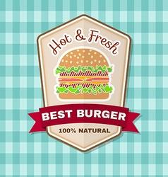 Vintage fast food badge banner or logo emblem vector