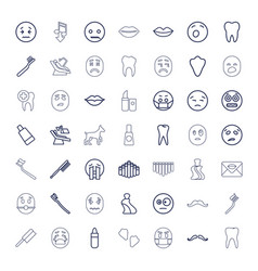 49 mouth icons vector