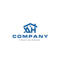 ah home logo design inspiration vector image