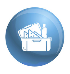 big lunchbox icon simple style vector image