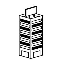 Building isometric isolated icon vector