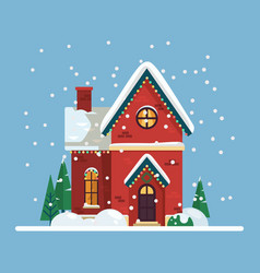 building with 2019 new year and christmas decor vector image