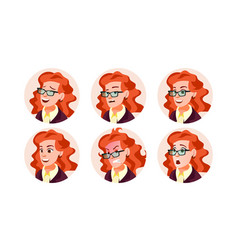 business avatar woman icon placeholder vector image
