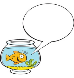 Cartoon fishbowl with a caption balloon vector