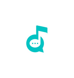 Chat music logo icon design vector