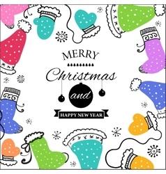 Christmas doodle postcard vector image