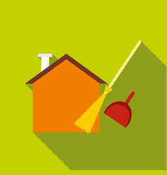 Cleaning icon flat style vector