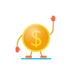 Coin dollar winner on a white background win in vector