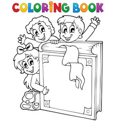 Coloring book kids theme 3 vector