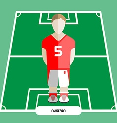 Computer game Austria Soccer club player vector