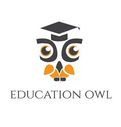 Concept of owl in graduate hat vector