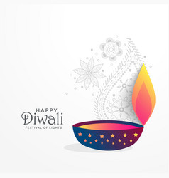 Creative diwali festival greeting background with vector