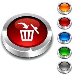 Delete 3d button vector image