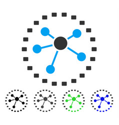 Dotted links diagram flat icon vector