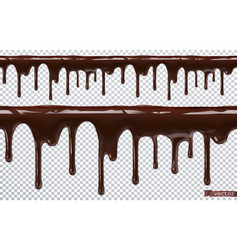 Dripping chocolate melt drip 3d realistic vector