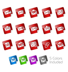 E-mail Stickers vector image