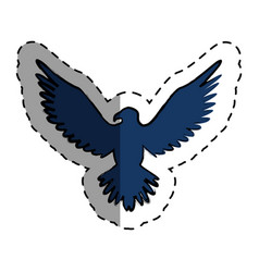 eagle american emblem icon vector image