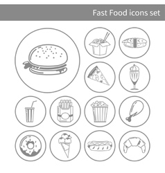 Fast food frame for web menu cafe and restaurant vector
