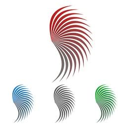 Geometric Swirl Logo Set vector