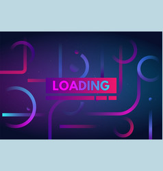 gradient dynamic loading bar background vector image