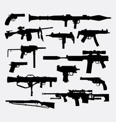 Gun weapon silhouette vector