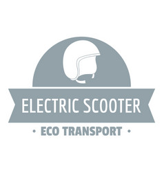 Helmet gyro scooter logo simple gray style vector
