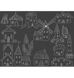 House chalk vector image