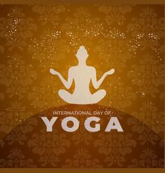 International yoga day design human meditation vector