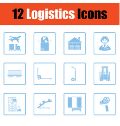 logistics icon set vector image