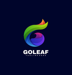 logo go leaf gradient colorful style vector image