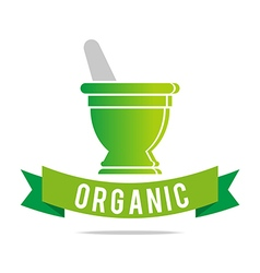 Logo Pharmacy Mashed Drugs Organic Product Icon vector image