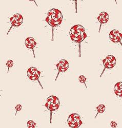 Lollipop Hand drawn sketch on pink background vector image