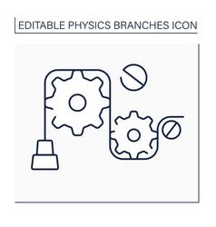 Mechanics line icon vector