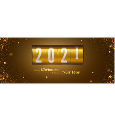 merry christmas and happy new year new 2021 vector image