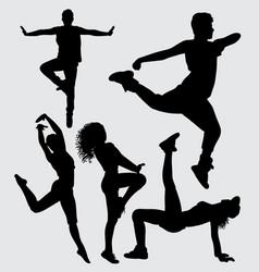 Modern dance silhouette vector