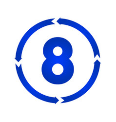 number 8 icon vector image